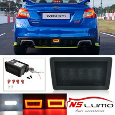 Smoked LED Rear Fog Light, Brake Backup Reverse Lamp FOR SUBARU WRX STi 2011+