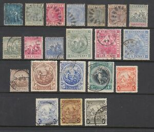 Barbados Sc 16//176 used. 1861-1932 issues, 21 different, sound, F-VF group.