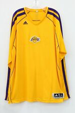 Los Angeles Lakers NBA Adidas Yellow Long Sleeve Athletic Top Size 3XL