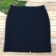 J.Crew Navy Blue Pencil Skirt Size 14 Lined Knee Length Fitted Career Work Wear