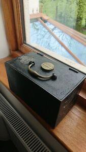 Victorian Iron Safe with original key 1890 by Fletcher & Murphy
