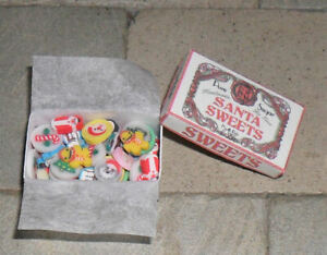 HAND-MADE DOLLS' HOUSE 1/12TH SCALE BOX OF CHRISTMAS SWEETS