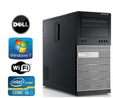 Dell Optiplex 790/990 Tower Windows 7 Pro I5 Quad Core 3.4GHz 4GB DVD/RW WiFi