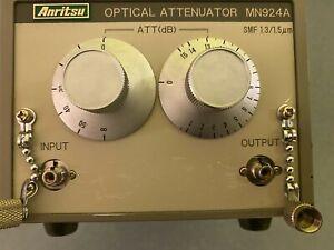 ANRITSU OPTICAL ATTENUATOR MODEL MN924A  SMF 1.3/ 3.5 µm