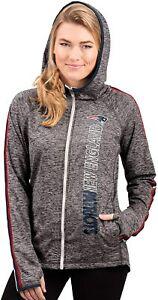 G-III 4her New England Patriots Women's Free Agent Full Zip Hoody Sweatshirt