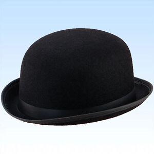 Bowler Hut Größe 60 Melone schwarz f. Hochzeiten, Reiterhut, Butler, Fasching