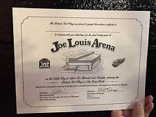 Finale Game At Joe Louis Arena Certificate