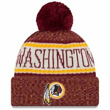 New Era NFL Sideline 2018 Bobble Beanie Washington Redskins