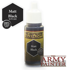 The Army Painter Acrylic Matt Black 18ml/0.6fl oz Paint Bottle 100% Match WP1101