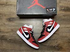 New listing Nike Air Jordan 1 Mid AJ1 Gym Red Black WhiteWmns Size 9.5 Men 8 BQ6472-601 Vnds