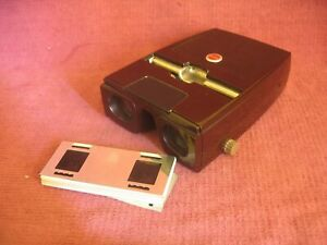 Kodak Kodaslide 3D Stereo Viewer with 8 Slides - Working but requires some TLC