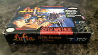 Super Nintendo SNES Lufia & The Fortress Of Doom Complete In Box CIB