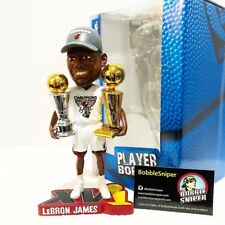 LEBRON JAMES Miami Heat 2012 Finals MVP Champ T-Shirt/Hat Trophy Bobble Head*