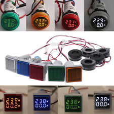 22mm AC50-500V 0-100A Amp & Voltmeter Voltage Ammeter Current Meter