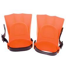 1 Pair Kids Adjustable Flippers Fins Snorkel Scuba Swimming Diving Orange