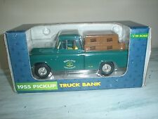 JOHN DEERE/ERTL 1992~1955 PICKUP TRUCK Locking Coin Bank Die Cast 1/25 SCALE NOS