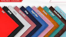 New Unisex PLAIN cotton square bandana scarf SQUARE