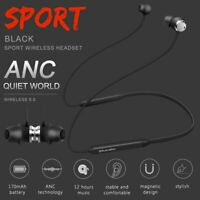Bluetooth 5.0 Headphone Stereo Active Noise Cancelling Wireless Earphone Headset