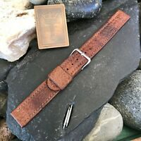 Elgin Signed Buckle & rare 16mm Gemex Swiss Calf ORD A-17A Vintage Watch Band
