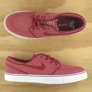 Nike Air SB Zoom Stefan Janoski Canvas Red White Athletic Shoes 705190-661 Sz 9
