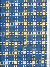home grown ~ BLUE COUNTRY QUILT ~ fabric J. Wecker-Frisch SSI squares & diamonds
