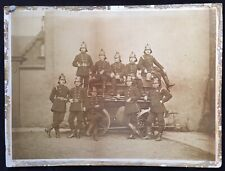 More details for manchester c.1890 large format photograph of crumpsall volunteer fire brigade