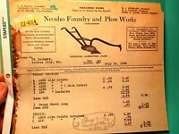 1930 NEOSHO FOUNDRY & PLOW WORKS Made in the Ozarks #2 BILL HEAD