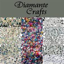 1000 Rhinestone Diamante Flat Back Loose Craft Embellishment Gem Sizes 1mm - 5mm