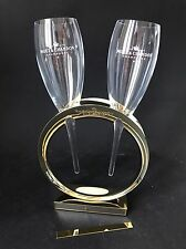 Moët Chandon Imperial Gold 'Wedding Ring' Glas Set Champagner Gläser NEU OVP
