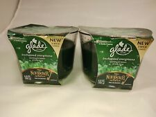 2 Glade Nutcracker Enchanted Evergreen 6.8 oz 3 wick candles limited ed Disney