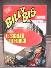 SUPER BILLY BIS Editrice Universo 1972 N 30 Fumetti Narrativa per Ragazzi Gialli