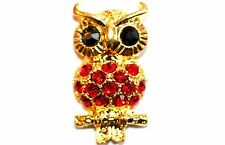 2pc Gold & Red Owl Connector Charm 1-3 day Shipping
