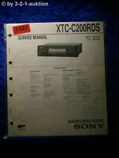 Sony Service Manual XTC C200RDS Changer Control Receiver (#1327)