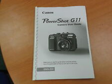 CANON POWERSHOT G11 FULL USER MANUAL GUIDE INSTRUCTIONS  PRINTED 193 PAGES
