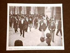 Roma nel 1899 Congresso degli orientalisti Uscita dal Palazzo del Senato Lazio