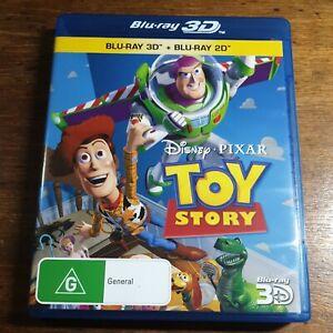 Toy Story 3D + Bluray Disney Pixar LIKE NEW! FREE POST