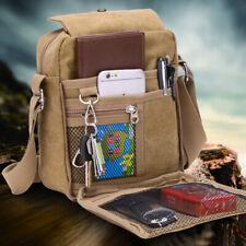 Men's Canvas Bag Travel Vintage Military Sling Bag Casual Shoulder Messenger Bag