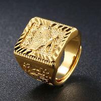 Anello da uomo Eagle Gioielli in oro con lettera cinese regolabile