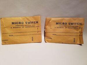 Paire De Honeywell Micro Interrupteur 1PA32 Limite Matériel Kits Neuf