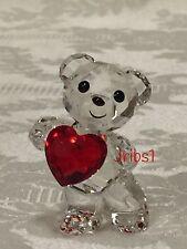Swarovski KRIS BEAR - A HEART FOR YOU 5265310 CRYSTAL FIGURINE HEART VALENTINE