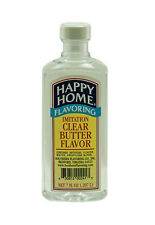Happy Homes all natural Clear Butter Extract 7oz december 2019 baking