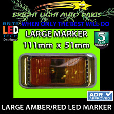 1PC LARGE LED SIDE CLEARANCE LAMP WITH CHROME BODY REPLACE HELLA NARVA LIGHTS