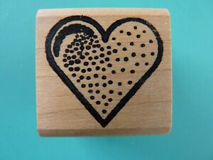 "Textured Heart, Small 1"" Rubber Stamp"