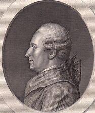 Portrait XIXe Pierre-Augustin Caron de Beaumarchais Siècle des Lumières 1840