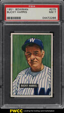 1951 Bowman Bucky Harris #275 PSA 7 NRMT (PWCC)