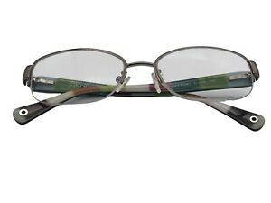 Coach BETTIE womens rainbow RX eyeglasses frames 51 16 135 dark silver oval