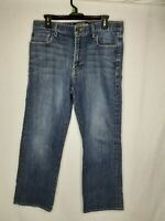 Lucky Brand Men's W/34 L/30 181 Relaxed Straight Blue Jeans