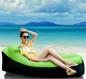 Beach Portable U-Shape Inflatable Air Bed Sofa Chair Mattress, NOT Needed Pump!
