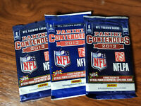 2013 panini contenders football ( 3 pack lot 24 cards total) See Details