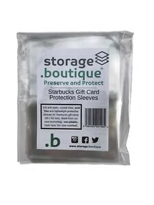 storage.boutique Starbucks Gift Card Protection Sleeves for Collectors (89 x 62
